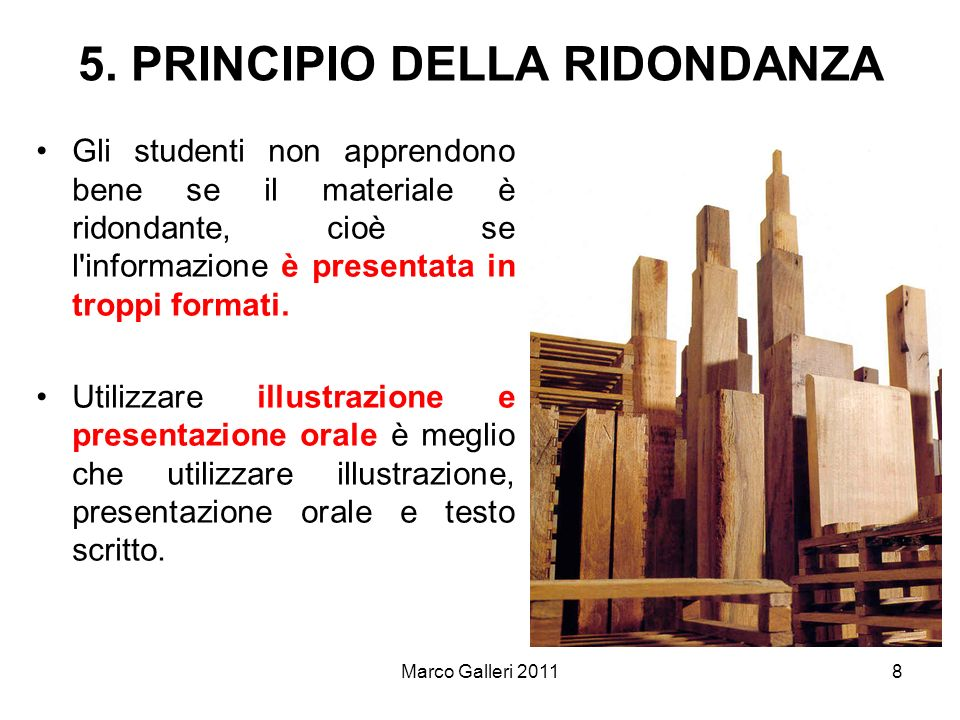 5. PRINCIPIO DELLA RIDONDANZA