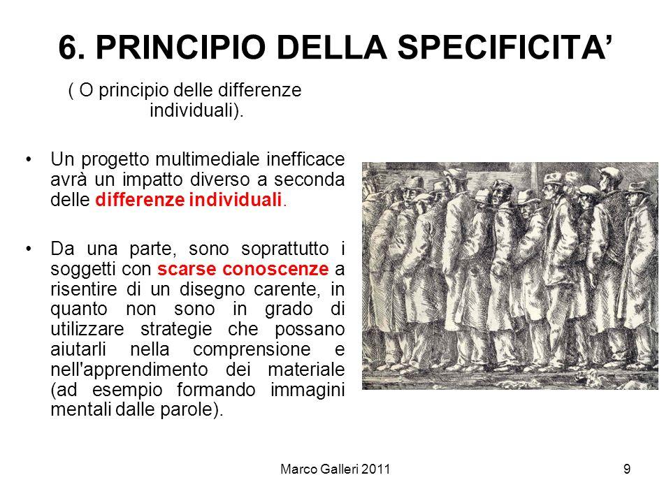 6. PRINCIPIO DELLA SPECIFICITA'