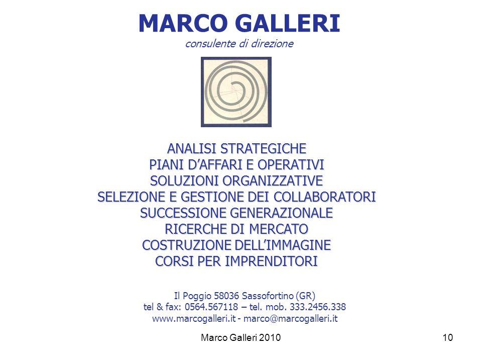 MARCO GALLERI consulente di direzione