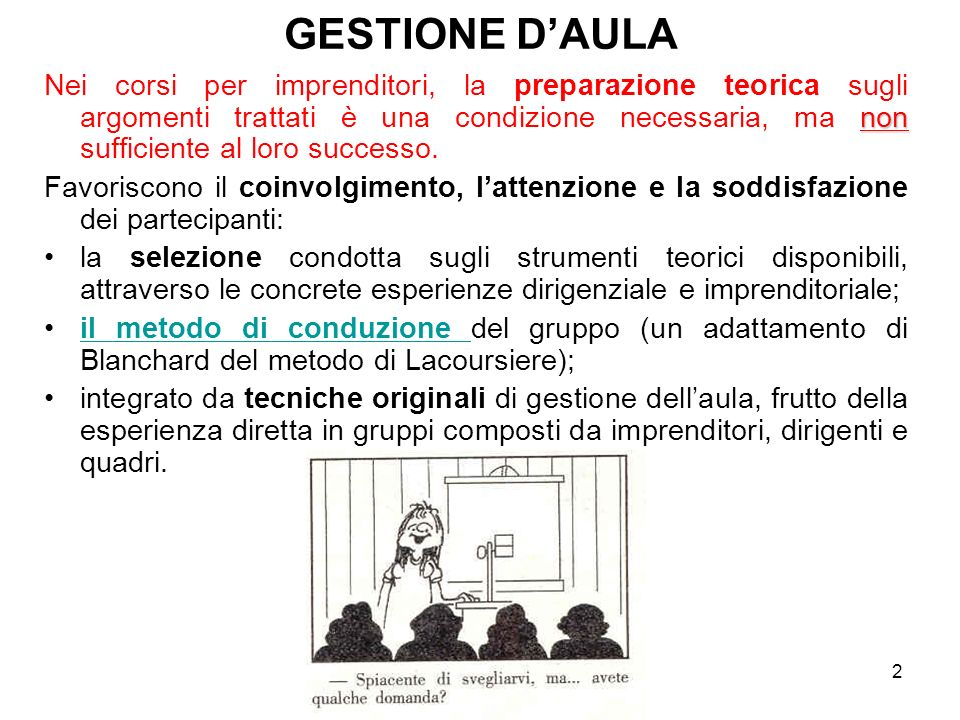 GESTIONE D'AULA
