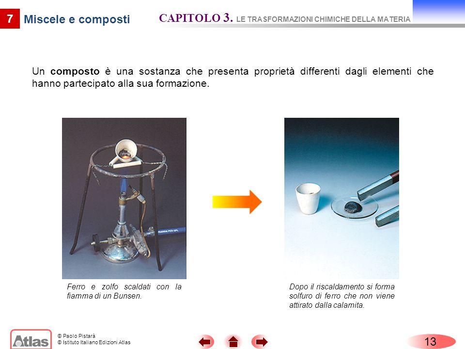 CAPITOLO 3. LE TRASFORMAZIONI CHIMICHE DELLA MATERIA