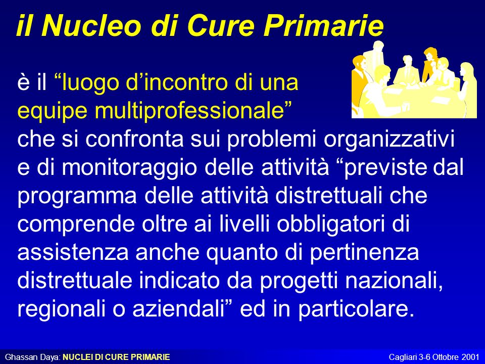 il Nucleo di Cure Primarie