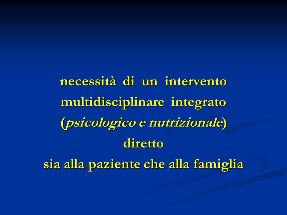 necessità di un intervento multidisciplinare integrato