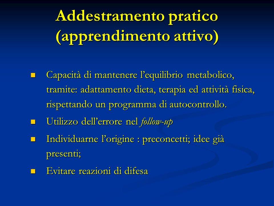 Addestramento pratico (apprendimento attivo)