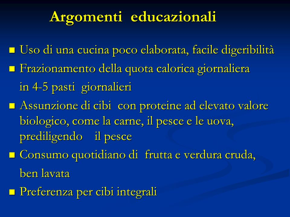 Argomenti educazionali