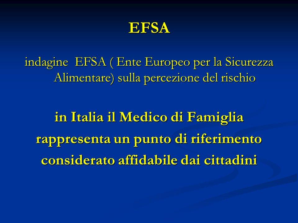 EFSA in Italia il Medico di Famiglia