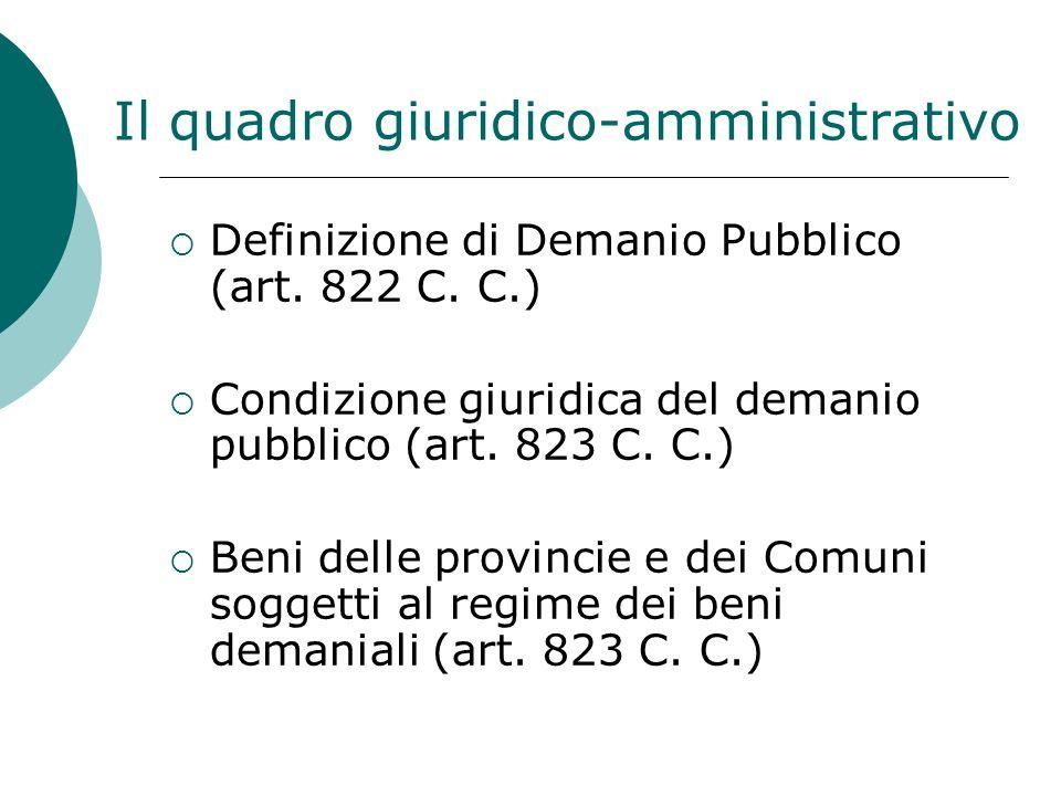 Il quadro giuridico-amministrativo