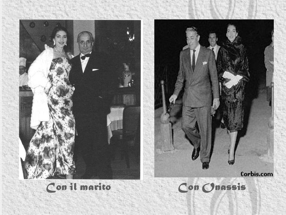 Con il marito Con Onassis
