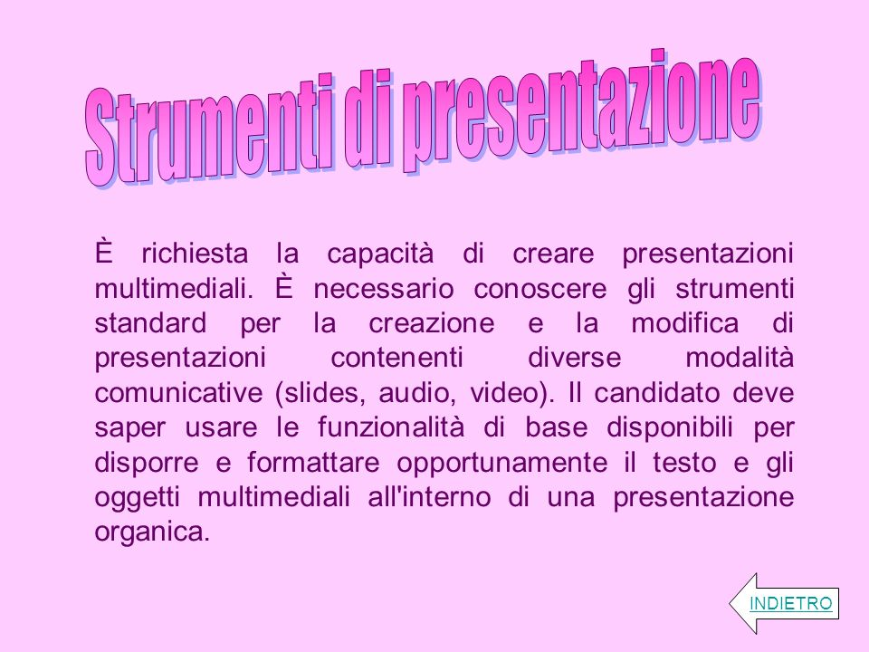 Strumenti di presentazione