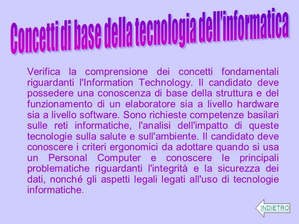 Concetti di base della tecnologia dell'informatica