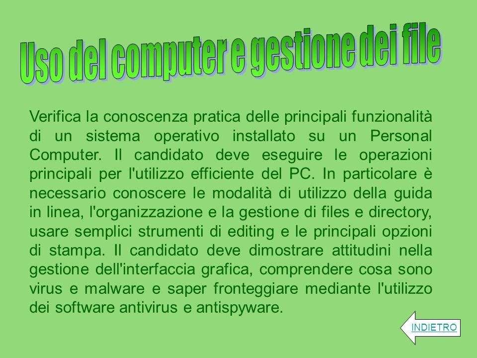 Uso del computer e gestione dei file