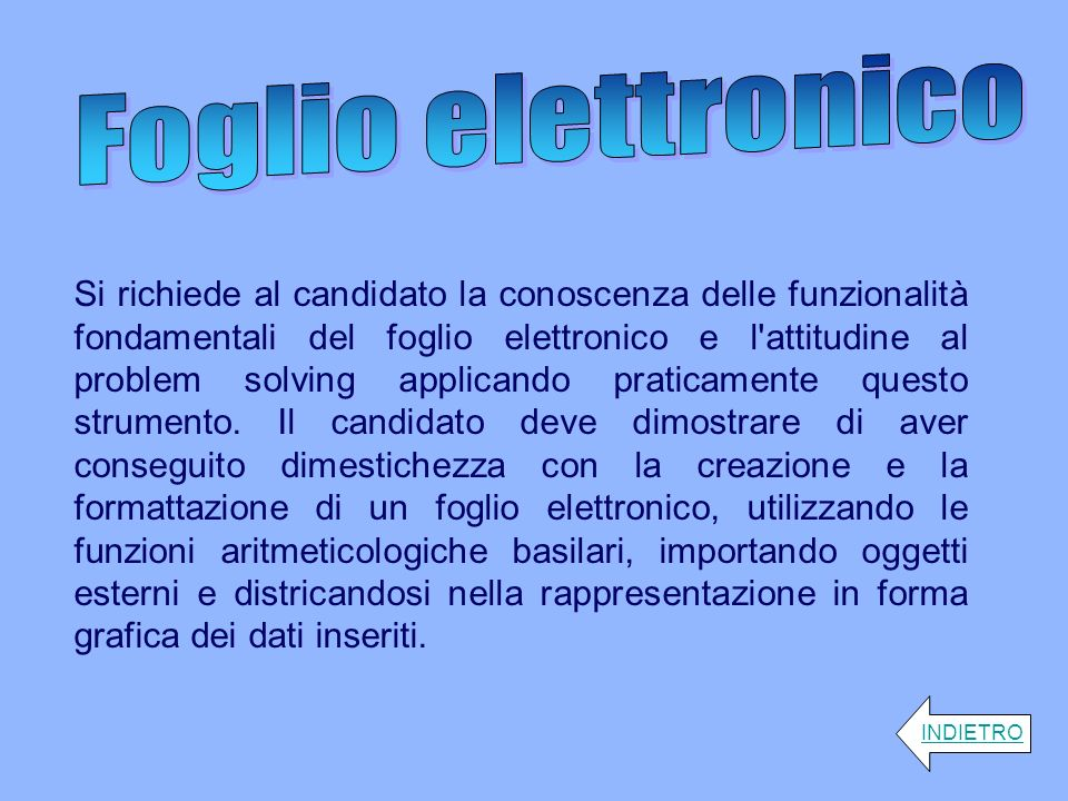 Foglio elettronico