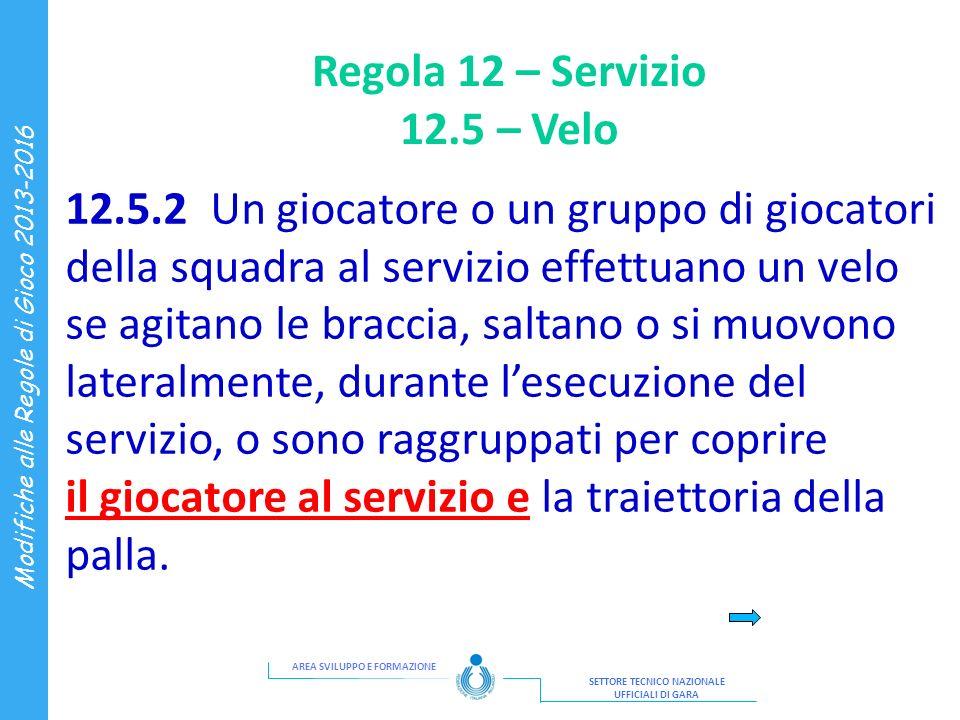 Regola 12 – Servizio 12.5 – Velo