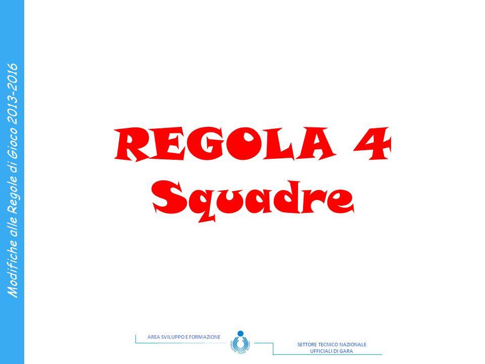 REGOLA 4 Squadre 3 3