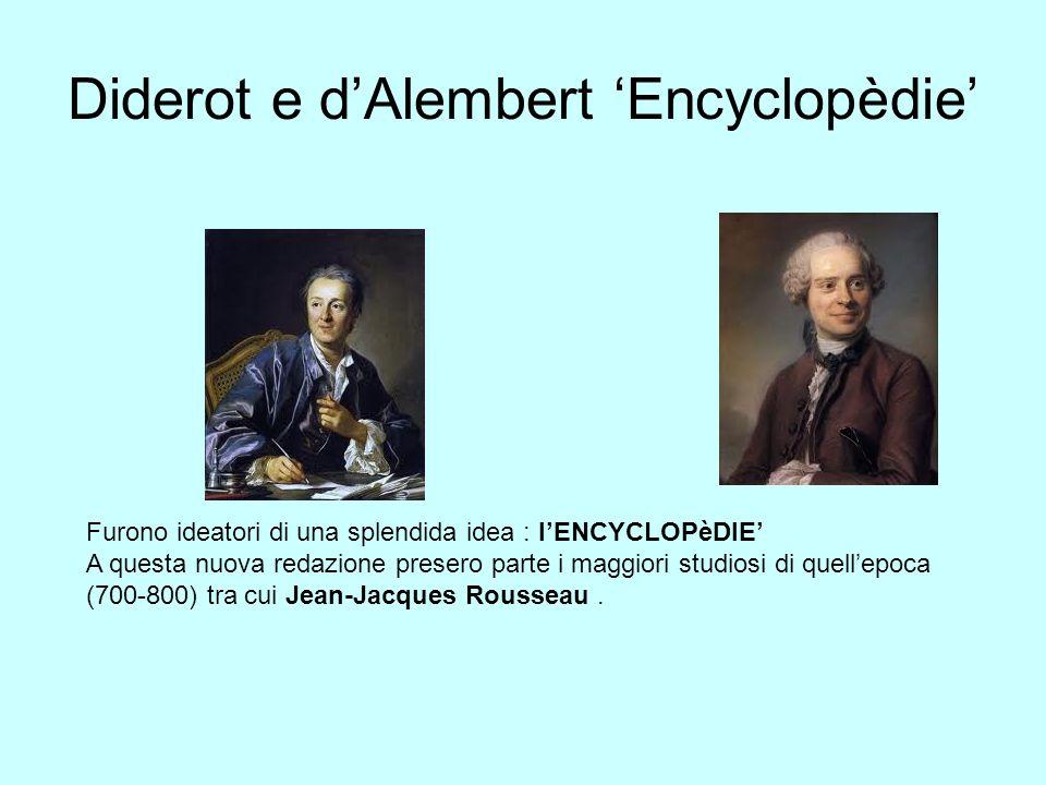 Diderot e d'Alembert 'Encyclopèdie'