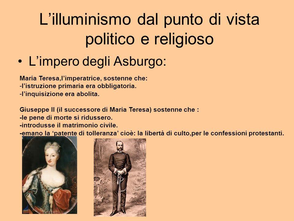 L'illuminismo dal punto di vista politico e religioso