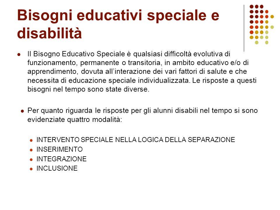 Bisogni educativi speciale e disabilità