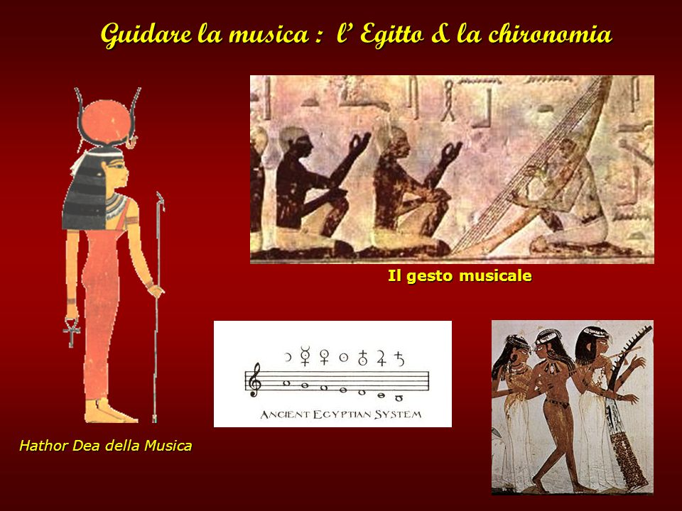 Guidare la musica : l' Egitto & la chironomia