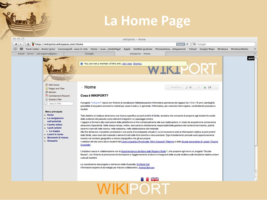 La Home Page WIKIPORT