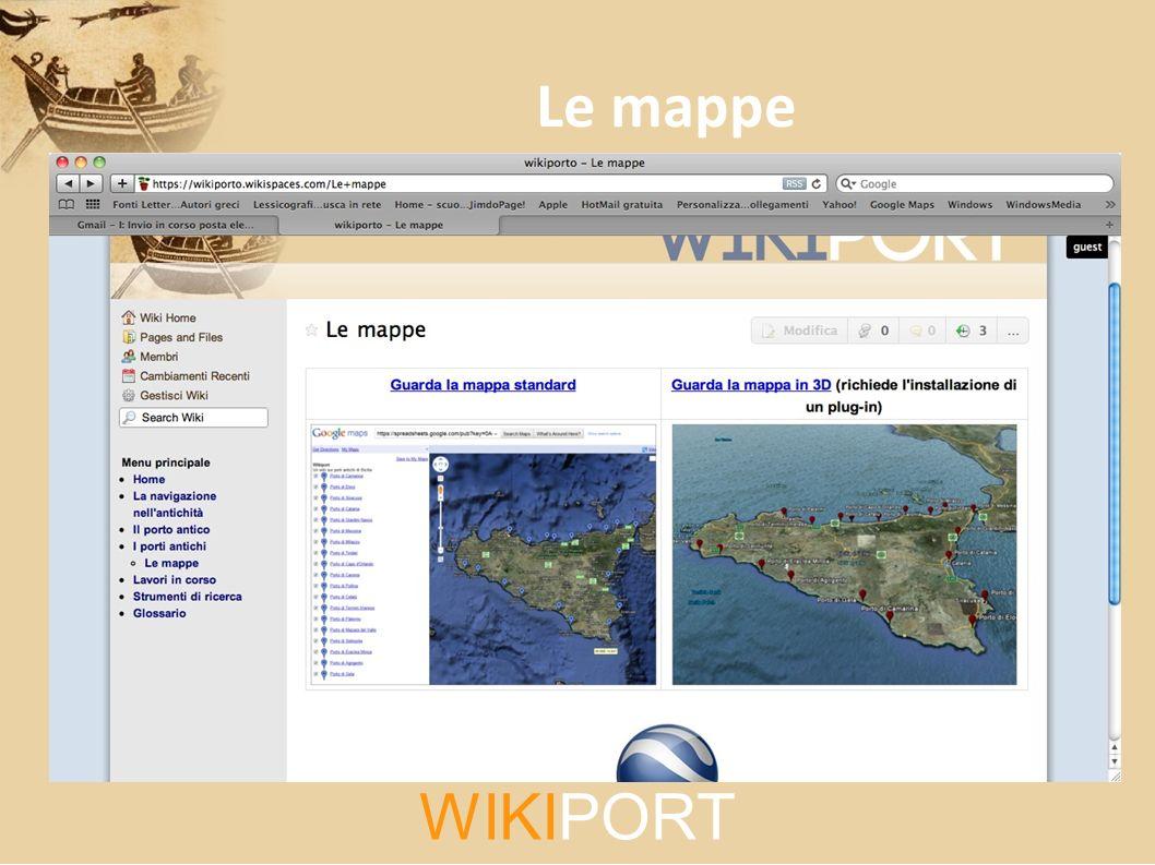 Le mappe WIKIPORT