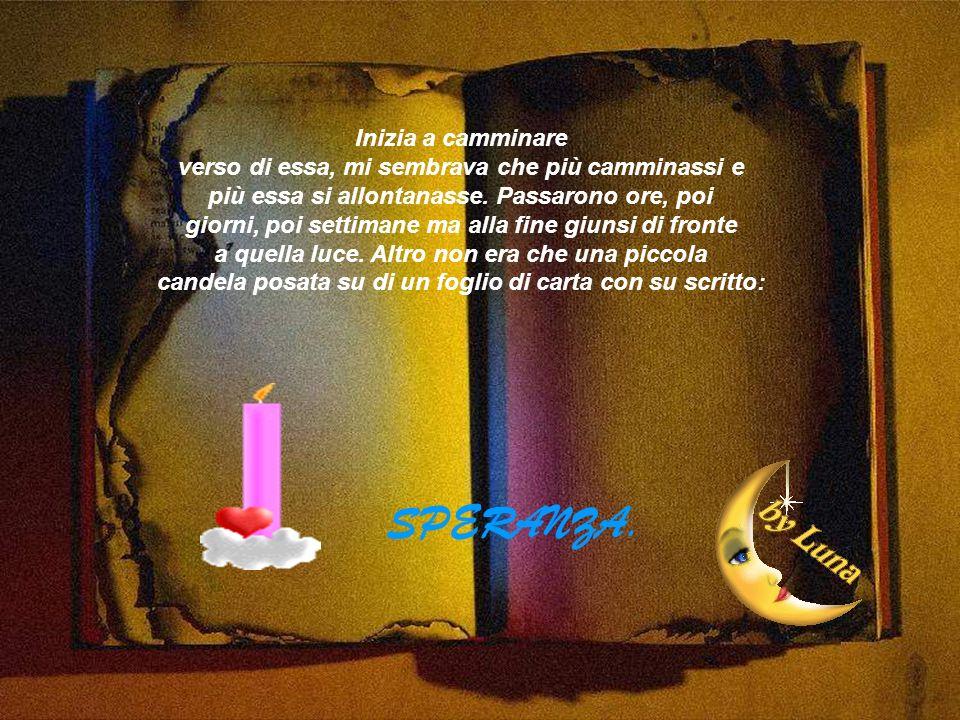 candela posata su di un foglio di carta con su scritto: