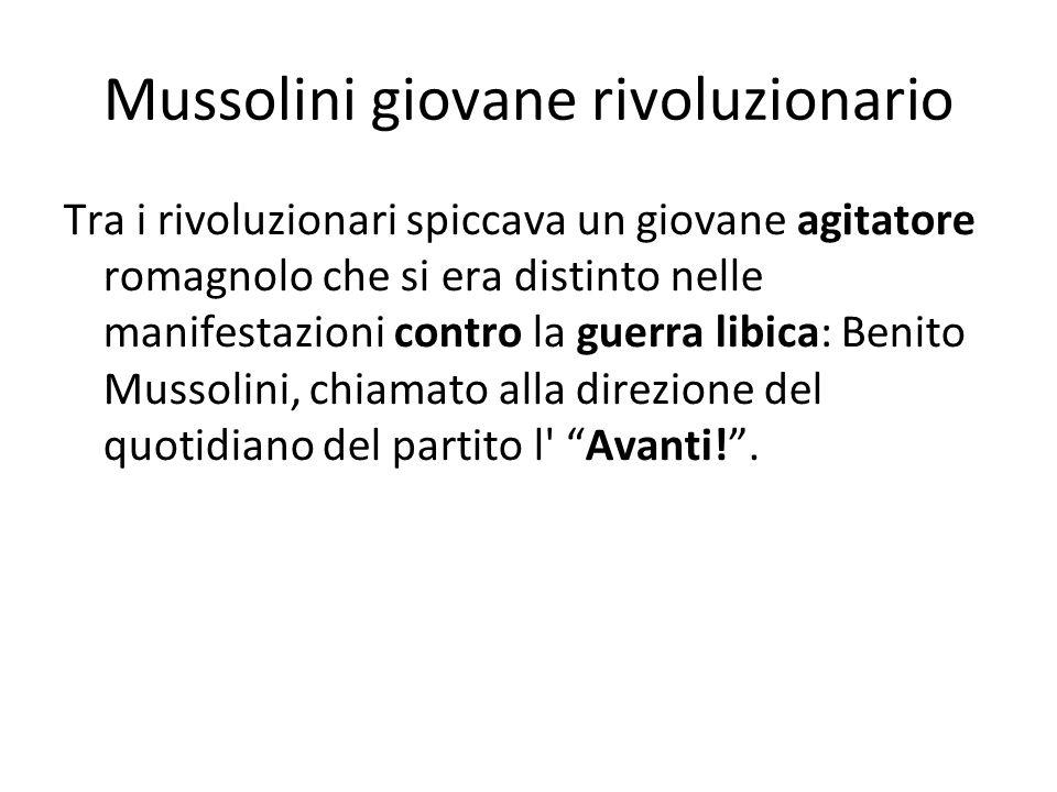 Mussolini giovane rivoluzionario