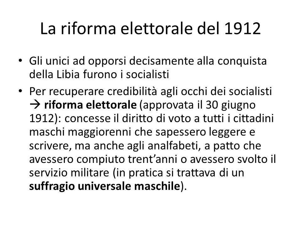 La riforma elettorale del 1912