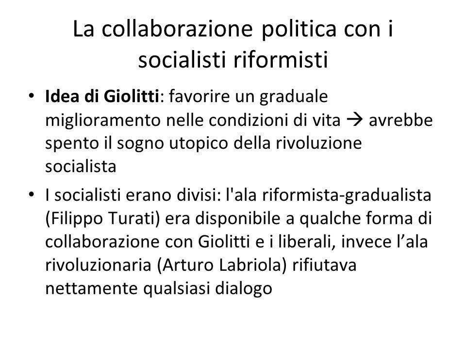 La collaborazione politica con i socialisti riformisti