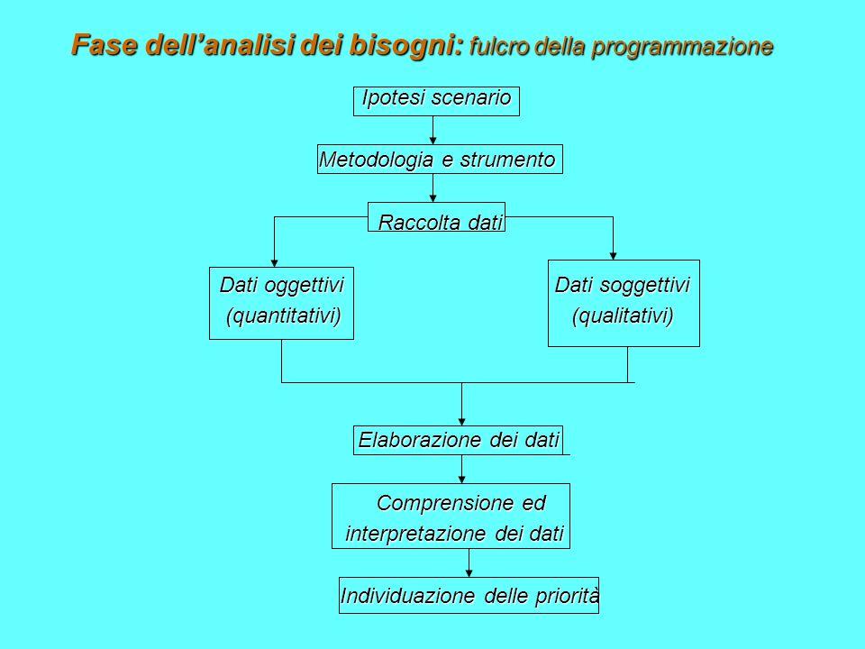Fase dell'analisi dei bisogni: fulcro della programmazione