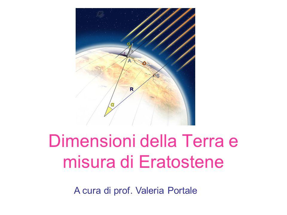 Dimensioni della Terra e misura di Eratostene