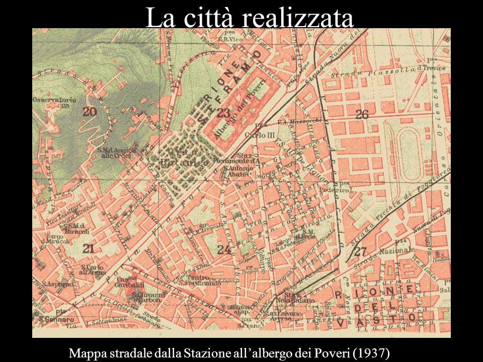 Mappa stradale dalla Stazione all'albergo dei Poveri (1937)