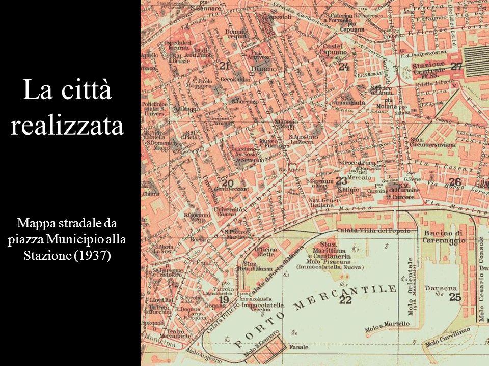 Mappa stradale da piazza Municipio alla Stazione (1937)