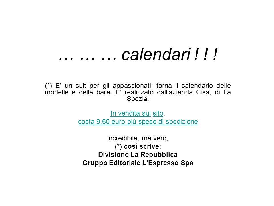 Divisione La Repubblica Gruppo Editoriale L Espresso Spa