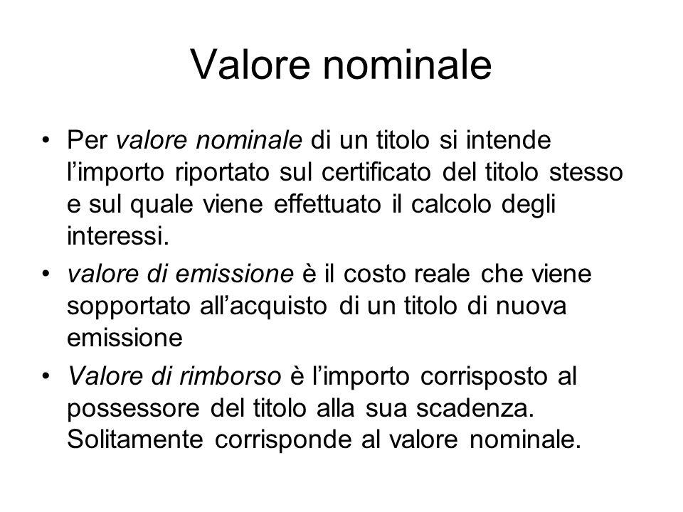 Valore nominale