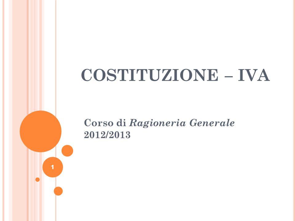 Corso di Ragioneria Generale 2012/2013