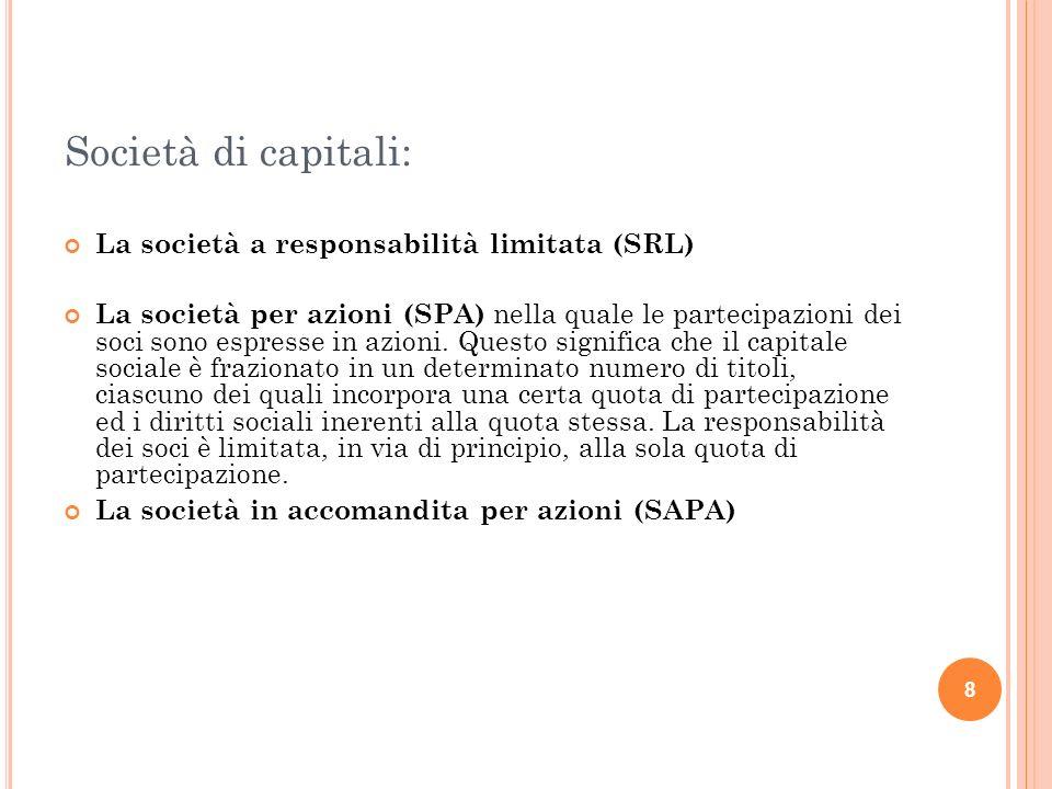 Società di capitali: La società a responsabilità limitata (SRL)