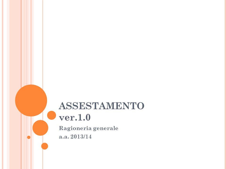 Ragioneria generale a.a. 2013/14