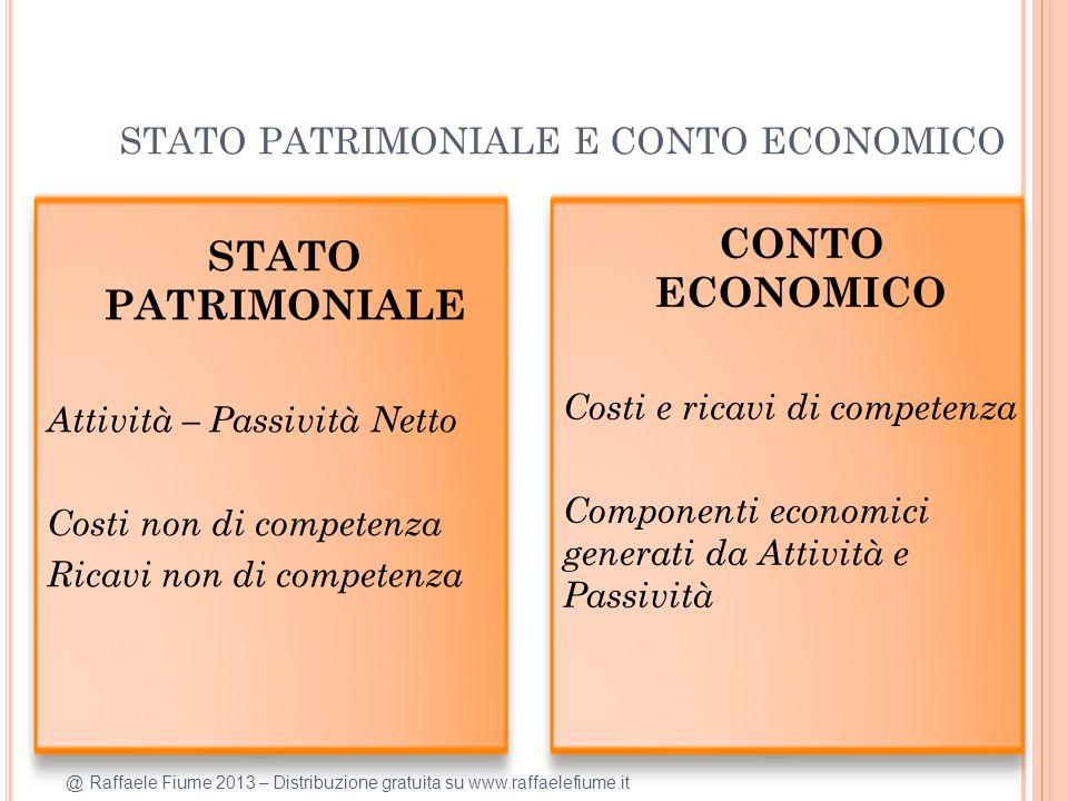STATO PATRIMONIALE E CONTO ECONOMICO