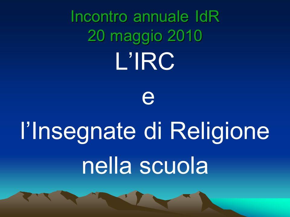Incontro annuale IdR 20 maggio 2010