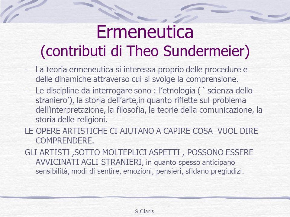 Ermeneutica (contributi di Theo Sundermeier)