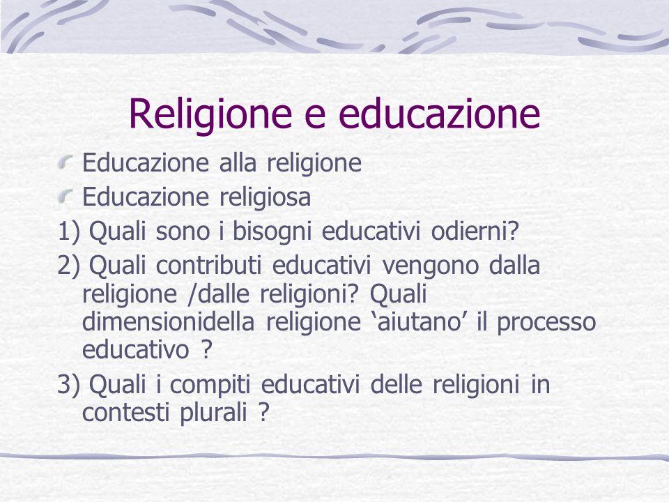 Religione e educazione