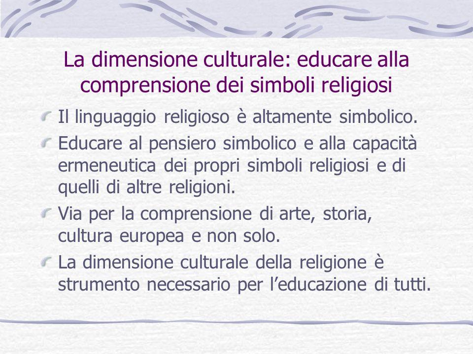La dimensione culturale: educare alla comprensione dei simboli religiosi