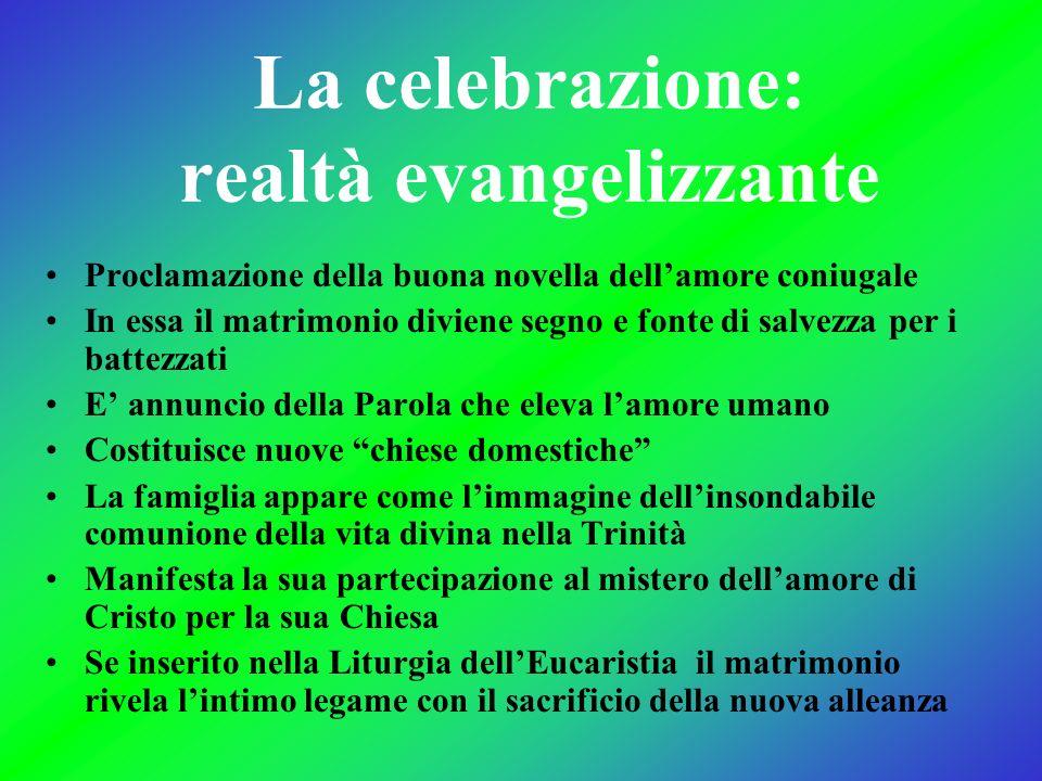 La celebrazione: realtà evangelizzante