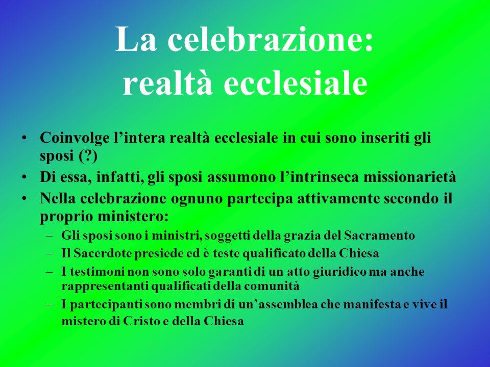 La celebrazione: realtà ecclesiale