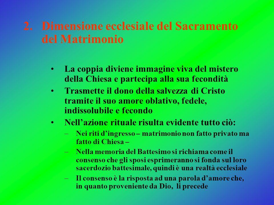 Dimensione ecclesiale del Sacramento del Matrimonio
