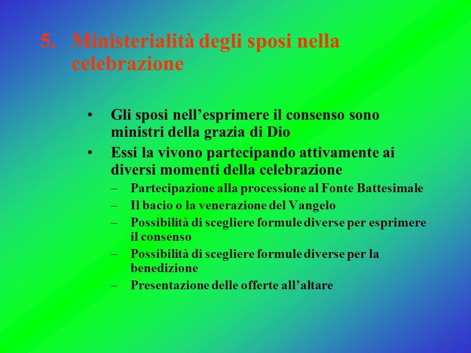 Ministerialità degli sposi nella celebrazione