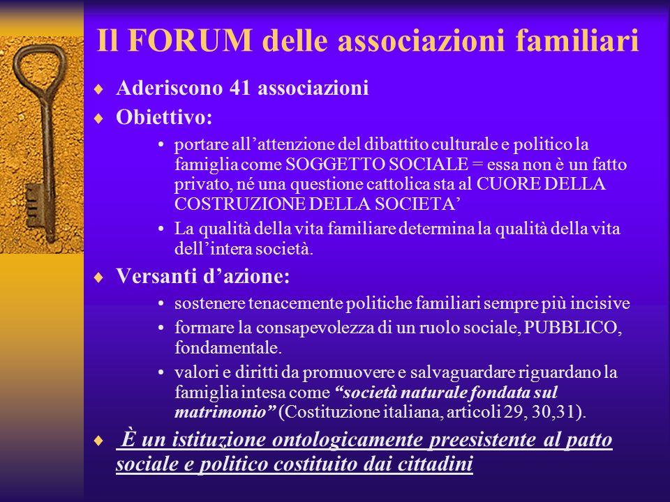 Il FORUM delle associazioni familiari