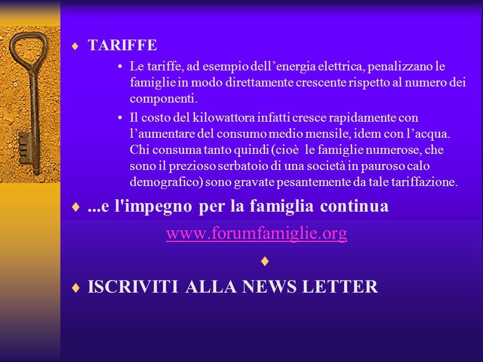 ...e l impegno per la famiglia continua www.forumfamiglie.org