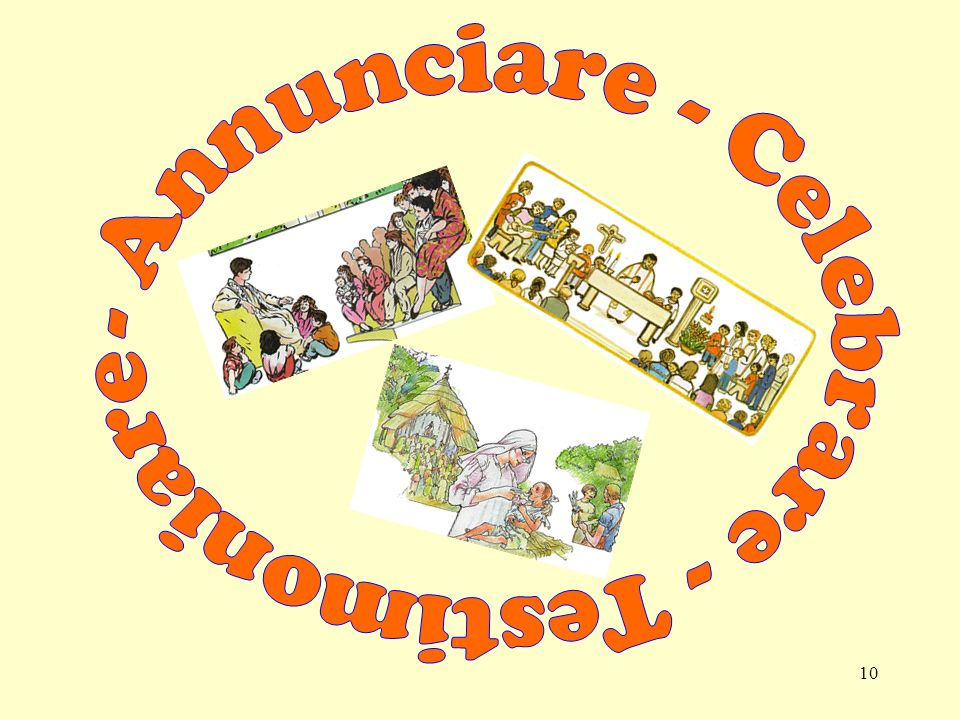- Annunciare - Celebrare - Testimoniare