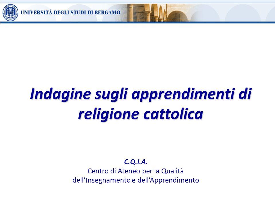 Indagine sugli apprendimenti di religione cattolica